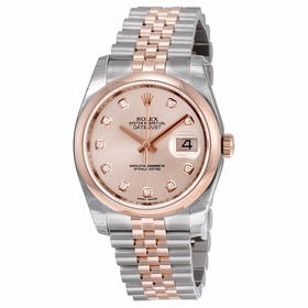 Rolex 116201PDJ Oyster Perpetual Datejust 36 Ladies Automatic Watch