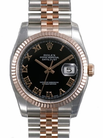Rolex 116231BKRJ Oyster Perpetual Datejust 36 Mens Automatic Watch
