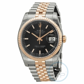 Rolex 116231BKSJ Oyster Perpetual Datejust 36 Mens Automatic Watch