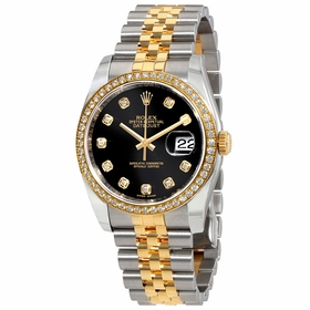 Rolex 116243BKDJ Oyster Perpetual Datejust 36 Ladies Automatic Watch