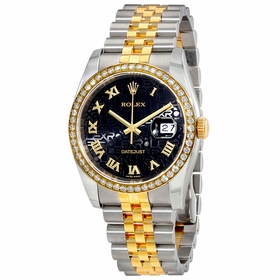 Rolex 116243BKJDJ Oyster Perpetual Datejust 36 Ladies Automatic Watch