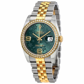 Rolex 116243GRFAJ Oyster Perpetual Datejust 36 Ladies Automatic Watch