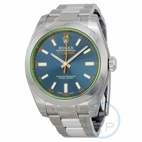 Rolex 116400GV Z-BLUE Milgauss Mens Automatic Watch