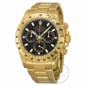 Rolex 116528BKSO Cosmograph Daytona Mens Chronograph Automatic Watch