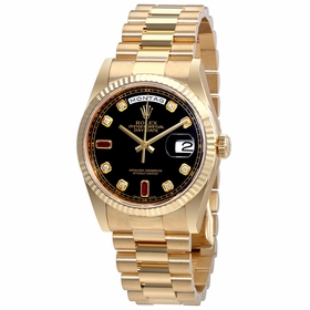 Rolex 118238BKDRP Oyster Perpetual Day-Date Ladies Automatic Watch
