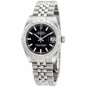 Rolex 178344BKSJ Oyster Perpetual Datejust 31 Ladies Automatic Watch