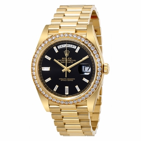Rolex 228348BKDP Oyster Perpetual Day-Date Mens Automatic Watch