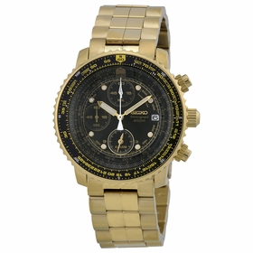 Seiko SNA414 Flight Chronograph Mens Chronograph Quartz Watch
