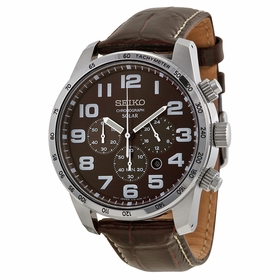Seiko SSC227 Solar Chronograph Mens Chronograph Quartz Watch