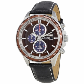 Seiko SSC503 Solar Mens Chronograph Eco-Drive Watch