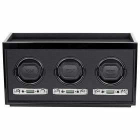 Wolf Designs Meridian Collection Triple M2.7 Piano Black Modular Winder 453770