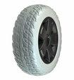"""10.75""""x3.6"""" Rear Wheel Assembly with Gray Flat-Free Tire for Pride Victory 10 (SC610/SC710)"""