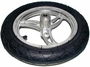 """12-1/2"""" x 2-1/4"""" (12.5x2.25) Complete Rear Wheel Assembly (Curved Spokes)"""
