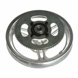 """12-1/2'' x 2-1/4"""" Rear Rim with Straight Spokes & 80 Tooth #25 Chain Sprocket"""