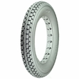 "12-1/2"" x 2-1/4"" Solid Gray Polyurethane Mobility Tire with C628 Knobby Tread"