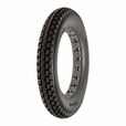 "12-1/2""x2-1/4"" Dark Gray Solid Urethane Mobility Tire with Knobby Tread"
