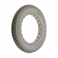 "12-1/2""x2-1/4"" Light Gray Solid Urethane Mobility Tire with Knobby Tread"