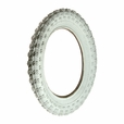 "12-1/2""x2-1/4"" Scooter Tire with White K50 (Comp 3 Style) Knobby Tread (Kenda)"