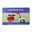 "12"" x 8"" Retro Lambretta Scooter Metal Sign"