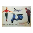 "12"" x 8"" Retro Vespa Scooter Metal Sign"