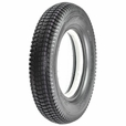 "14""x3"" (3.00-8) Black Foam-Filled Mobility Turf Tire (Narrow Lip Profile; 1.375"" Bead Width) with K372 Tread (Kenda)"
