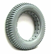 "14""x3"" (3.00-8) Light Gray Solid Urethane Mobility Tire with Knobby Tread for Invacare Power Chairs"