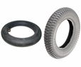 "14""x3"" (3.00-8) Mobility Tire and Tube Set with Powertrax Knobby Tread"