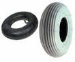 "2.80/2.50-4 (9""x3"") Mobility Tire and Inner Tube Set with Ribbed Tread"