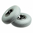 "Foam-Filled 3.00-4 (10""x3"", 260x85) Rear Wheel Assemblies for the 3-Wheeled Invacare Leo (Set of 2)"