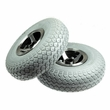 """Foam-Filled 3.00-4 (10""""x3"""", 260x85) Rear Wheel Assemblies for the 3-Wheeled Invacare Leo (Set of 2)"""