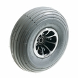 """3.00-4 (10""""x3"""", 260x85) Front Wheel Assembly with Gray Pneumatic Tire for Pride Scooters"""