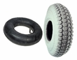 "3.00-4 (10""x3"") Mobility Tire and Inner Tube Set with Knobby Tread"