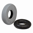 "3.00-4 (10""x3"") Mobility Tire and Inner Tube Set with Traction Tread"