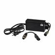 36 Volt 1.5 Amp XLR-4 QL-09005-B3601670H Electric Bike Charger with a 3-Pin Adapter (Qili Power)