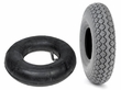 "4.00-5 (13""x4"", 330x100) Mobility Tire and Inner Tube Set with Diamond Knobby Tread"