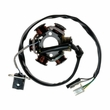 6 Coil Magneto Stator with 3+2 Wiring Connector for 125cc GY6 152QMI & 150cc GY6 157QMJ Scooters