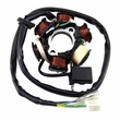 6 Coil Magneto Stator with 3+2 Wiring Connector for 50cc, 125cc, and 150cc GY6 Scooters (NCY)