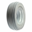 "6""x2"" (150x50) Light Gray Solid Urethane Mobility Tire with 4-Rib Tread"