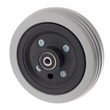 "6""x2"" Flat-Free Caster Wheel Assembly with Gray Tire for Jazzy Power Chairs"