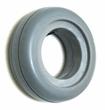 "6""x2"" Light Gray Solid Urethane Mobility Tire with 2-Rib Tread"