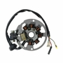 7 Coil Magneto Stator with 3+2 Wiring Connector for 1PE40QMB Minarelli Yamaha Jog Style Scooter Engines