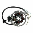 7 Coil Magneto Stator with 3+3 Wiring Connector for 1PE40QMB Minarelli Yamaha Jog Style Scooter Engines