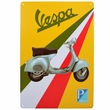 "8"" x 12"" Retro Piaggio Vespa Scooter Metal Sign"