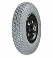 "8""x2"" (200x50) Gray Flat-Free Front Wheel Assembly with Black Rim for the Pride Dart (SC51), Pride Dash (SC41), Pride Revo (SC63), and Pride Sonic (SC50/SC52) Mobility Scooters"
