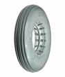 "8""x2"" (200x50) Light Gray Solid Urethane Mobility Tire with Ribbed Tread"