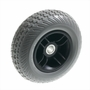 "8""x2.50"" Gray Flat-Free Rear Wheel Assembly with Black Rim for Go-Go & Pride Travel Mobility Scooters"