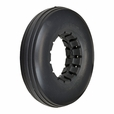 """8""""x2"""" Dark Gray Solid Urethane Mobility Tire with Ribbed Tread"""