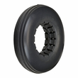 "8""x2"" Dark Gray Solid Urethane Mobility Tire with Ribbed Tread"