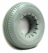 "9""x2-3/4"" (280-250X4) Light Gray Solid Urethane Mobility Tire with Sawtooth Tread"
