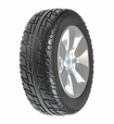 "9""x3"" (2.80/2.50-4) Flat-Free Drive Wheel Assembly w/ Silver Rim & Black Tire for Jazzy Select Elite & Pride TSS 300"